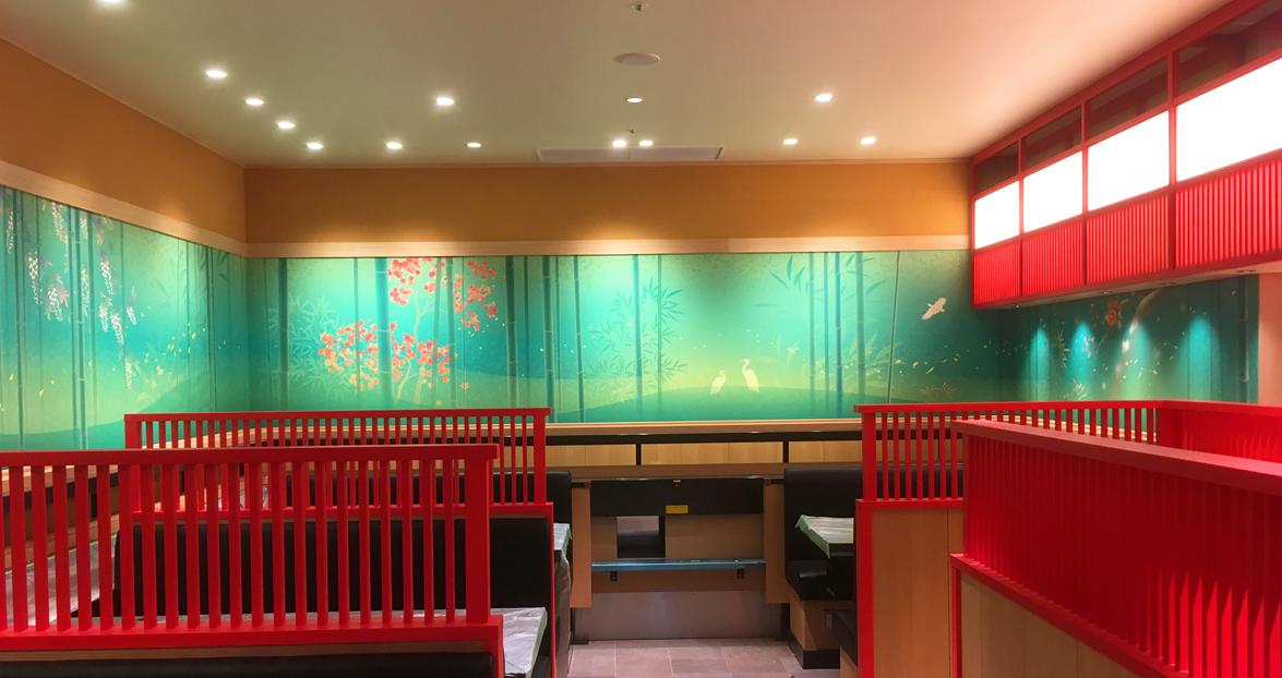 石川県金沢市に本社の金沢まいもん寿司様の上野松坂屋パルコ店です。